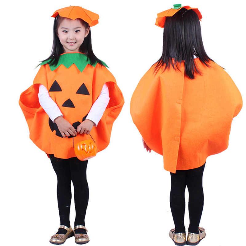 Костюм для взрослых и детей в форме тыквы, костюм для Хэллоуина, комплект одежды для родителей и детей, Одинаковая одежда для всей семьи