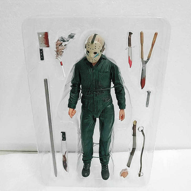 18cm Original NECA Friday the 13th Jason Parte Final 5 Roy Queimaduras Action Figure Modelo Boneca Brinquedos Para Presente
