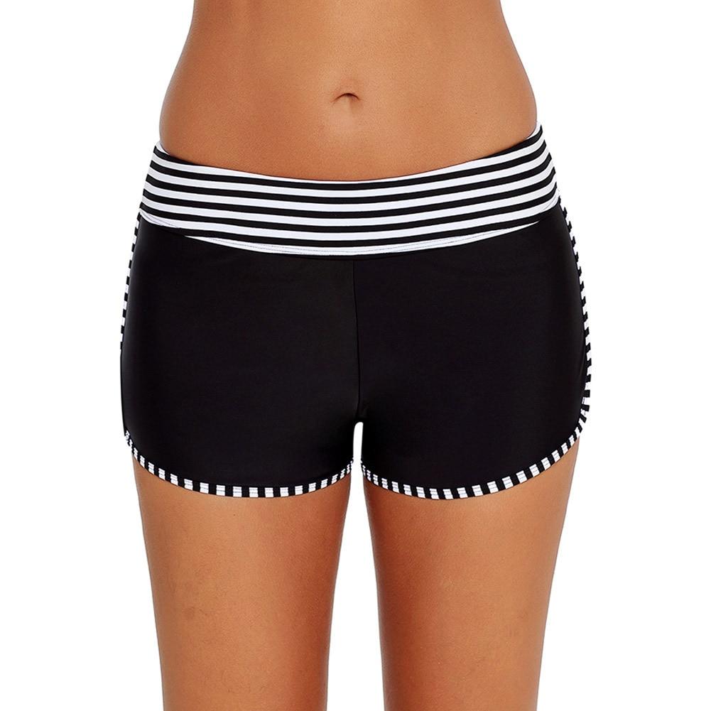Shi Ying Europe And America WOMEN'S Dress Bikini Medium Waist Contrast Color Elastic Wide Belt One-Piece AussieBum 410794