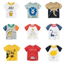 Toddler Shirts O-Neck-Tops Spring Animal-Pattern 1-10-Years Baby-Boy Unisex Casual Tee