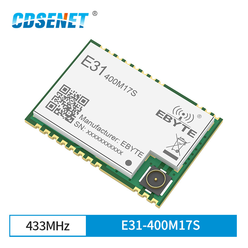 AX5243 433MHz SPI SMD Wireless Transceiver IoT Module Dual Antenna IPEX Low Power E31-400M17S For Ddc Duc Ddc Transceiver