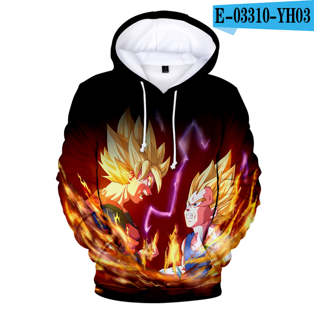 <font><b>Dragon</b></font> <font><b>Ball</b></font> <font><b>Z</b></font> Cartoon 3D Hoodie Sweatshirts Men Women Hoodie Anime Casual Tracksuits <font><b>Jackets</b></font> Harajuku Hooded Pullover Son <font><b>Goku</b></font> image