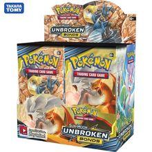 324 pces pokemon tcg: sun & moon títulos inquebráveis booster caixa de cartão de negociação jogo