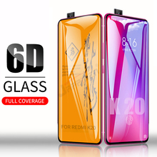 6D 풀 접착제 커버 강화 유리 Xiaomi Poco X3 F2 Pro Redmi 9 K30 Ultra Glass For Mi 10T 9T 레드 미 노트 9 8 Pro Max 8 8T 9S