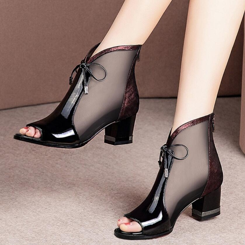 Fashion Hollowing Out Womens Pointed Toe Slip Ons Shoes Studs Mesh Low Heel New
