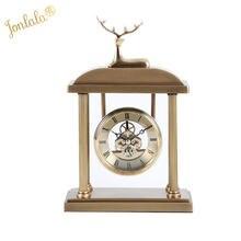Креативные металлические часы с оленем гостиная телевизор стол