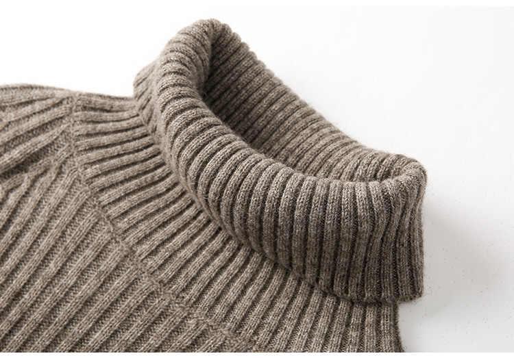 Женский свитер 2019 новый весенний высококачественный мягкий кашемировый свитер с высоким воротом и длинным рукавом женский модный теплый однотонный вязаный пуловер