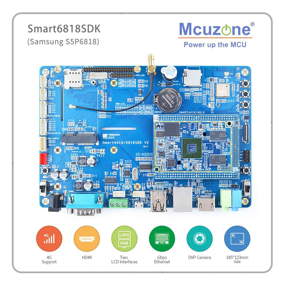 SMART6818SDK S5P6818 4.3' 7' 10.1'LVDS LCD 4G 800*480 800*1280 Capacitive Screen
