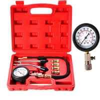 Probador de compresión de motor de gasolina, Kit de prueba de inyección de manómetro de coche de 0-300psi