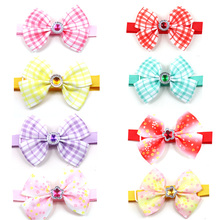 Pet-Supplies Grooming-Accessories Bowties Flower Pet-Dog Dogs Small Spring Diamond 10pcs