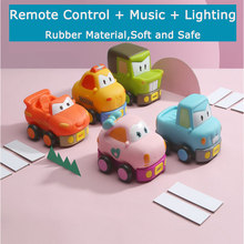 Children Electric Cartoon Remote Control Car with Music Lightning McQueen PAW Patrol Baby Kids RC Cars Toys Birthday Gift(China)