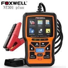 FOXWELL – NT301 Plus Scanner de batterie 12V, moteur automobile, testeur de batterie, lecteur de Code de défaut OBD2, outil Creader