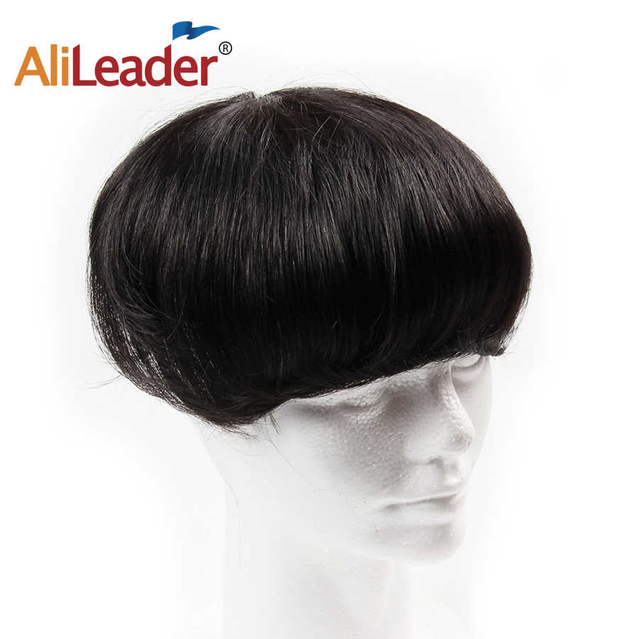 Alileader Toupees For Men Natural Human Hair Mens Wigs Hot Selling Hair Prosthesis 150% Density Hair Unit For Men