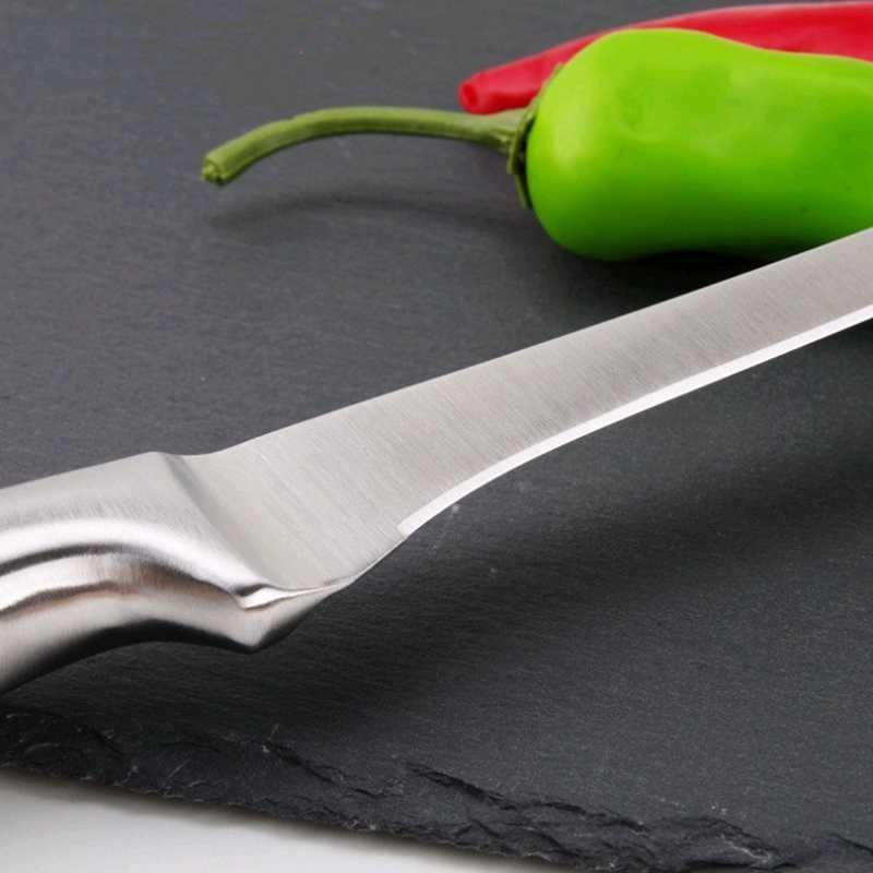 7 Cal wysokiej jakości stal nierdzewna kuchnia nóż filetowy Eviscerate ryby nóż rzeźbiarski styl japoński noże do odkostniania