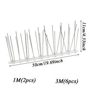 Image 2 - רצפת אתחול 1 12M ציפור repeller פלסטיק נירוסטה ציפור spikes אנטי ציפור/יונה הדברה ציפור דוחה אספקת גן