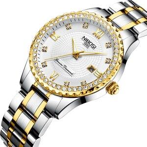 Image 1 - Reloj de regalo moderno de cuarzo estilo de cámara único serie fotógrafo NIBOSI correa de acero inoxidable para mujer