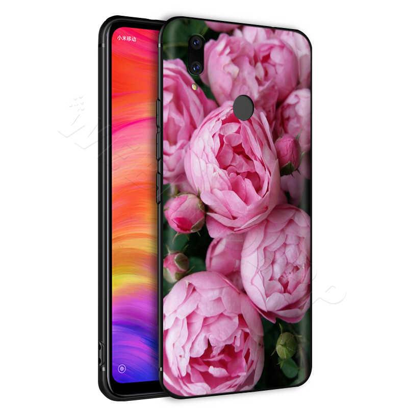 ピンクの花牡丹花瓶ケース xiaomi Redmi 4A 4 × 5 5A 6 6A 7 7A S2 注行く k20 プロプラスプライム 8T