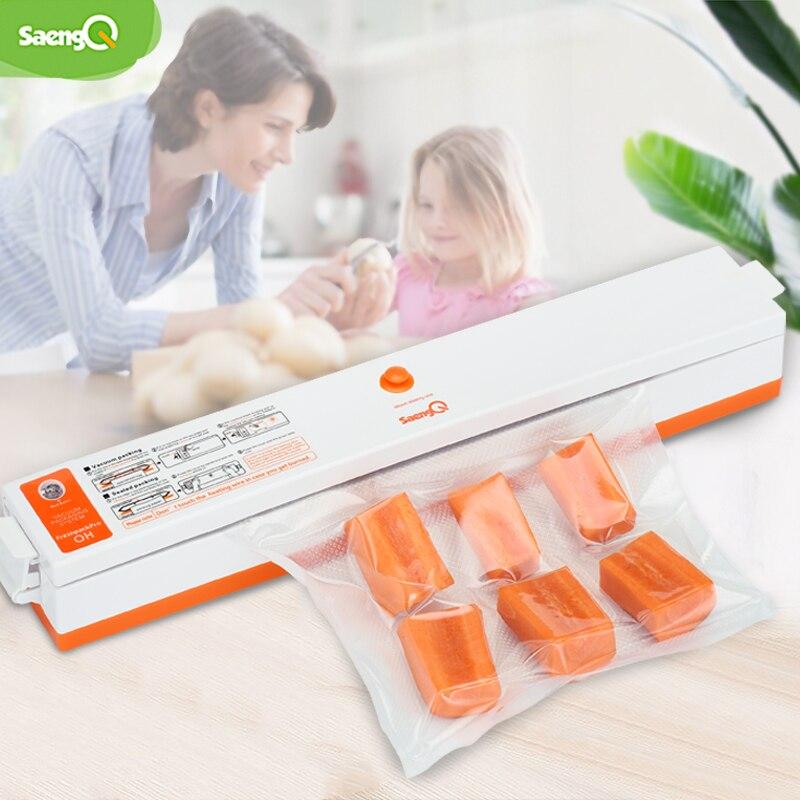 SaengQ Household Best Food Vacuum Sealer Packaging Machine Film  Sealer Vacuum Packer 220V/110V Including 15Pcs Bags