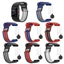 Ootdty alloyseed silicone substituição pulseira de relógio de pulso para polar v800 pulseira inteligente com ferramenta pulseira de relógio inteligente para mulheres masculinas