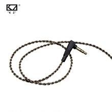 Kz Zs3/zs4/zs5/zs6/zsa 1,2 м бескислородная медная гарнитура Посеребренная проволока 0,75 мм Pin обновленный кабель для ZS10 ZST
