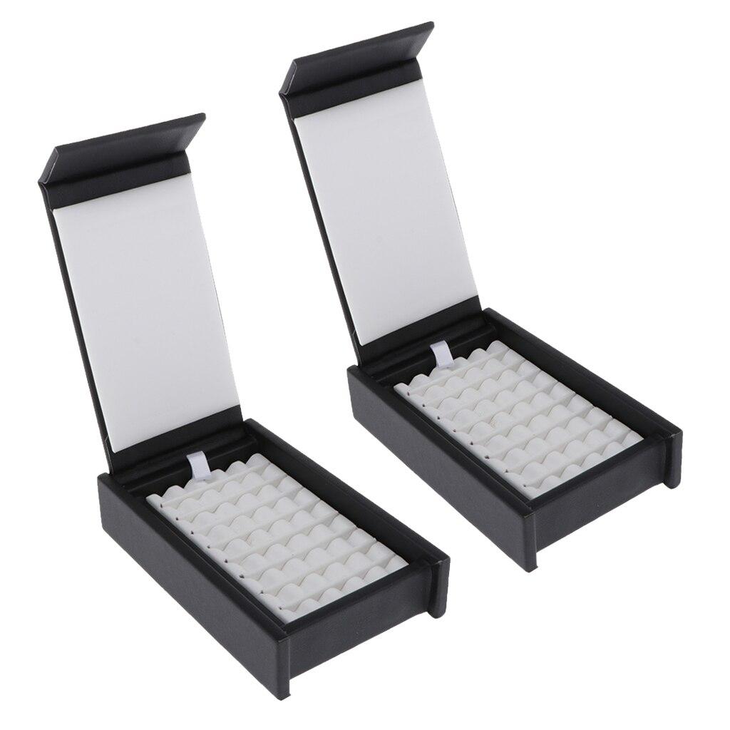 Pacote de 2 caixa de jóias do plutônio organizador de jóias de diamante suporte de exibição à moda durável
