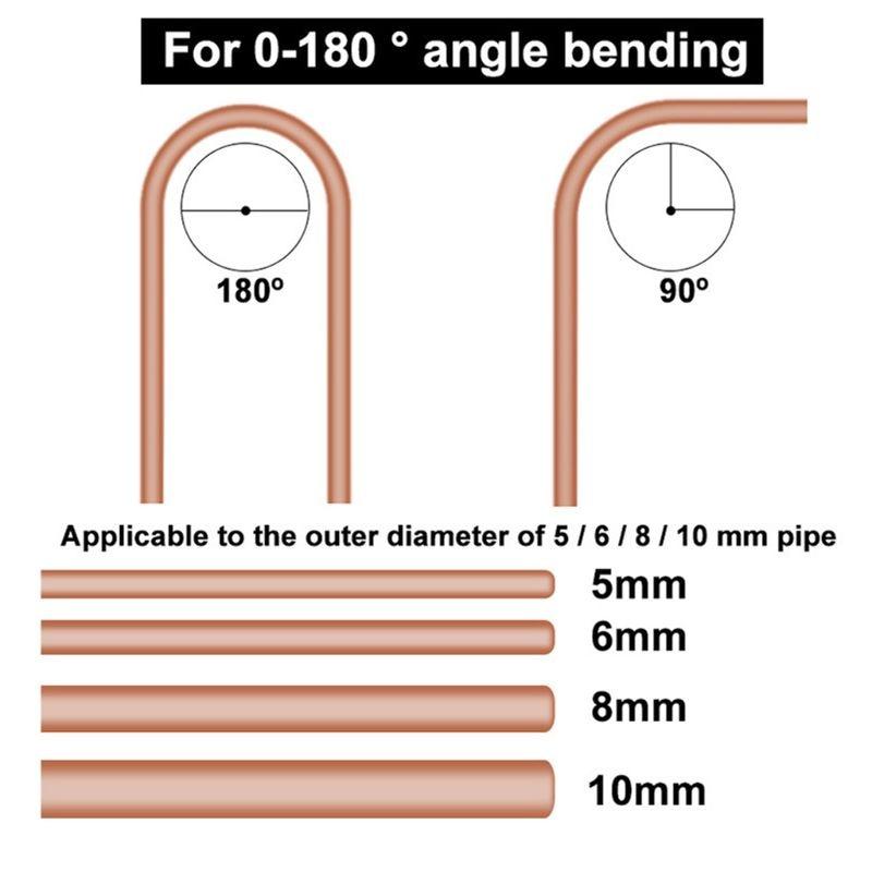 4 In 1 180 Degree 5/6/8/10mm Pipe Tube Bender 4 Slot Combination Bending Tool 831F