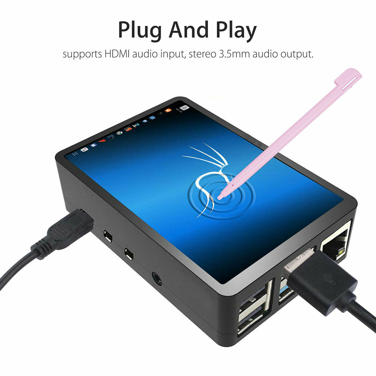 Image 3 - 3.5 inch TFT LCD Touch Screen + ABS Case + Touch Pen LCD Display HDMI Input Monitor Kit for Raspberry Pi 4 BLCD Modules   -