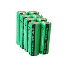 8 قطعة/الوحدة PKCELL 1.2 فولت 1300 مللي أمبير 4/5AA ni mh بطارية 1.2 فولت NiMh بطارية قابلة للشحن لبناء حزم البطارية سطح مسطح