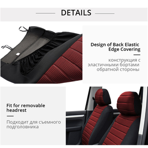 Image 4 - AUTOYOUTH Brand 2PCS Car Seat Covers 5MM Foam Airbag Compatible Universal Fit Most Vans Minibus Separated Car Seat
