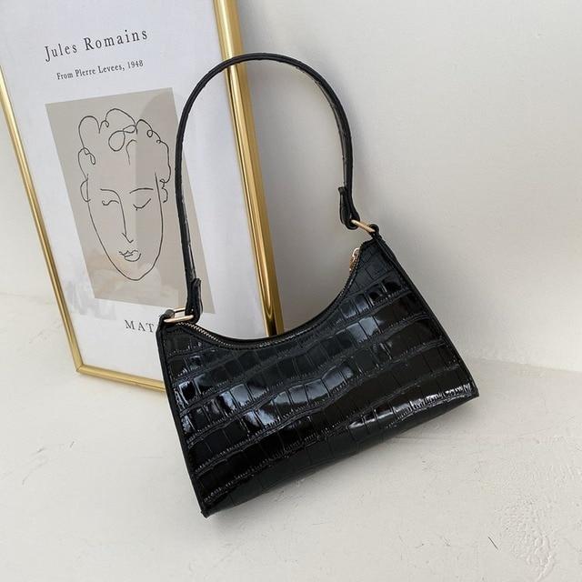 Moda requintado saco de compras retro casual feminina totes bolsas de ombro feminino couro cor sólida corrente bolsa para mulher 2020 2