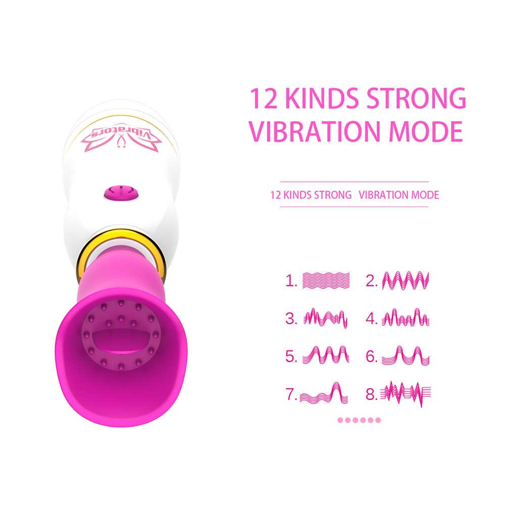 Nieuwe 12 Speed Vibrator Butt Plug Siliconen Stimulator Speelgoed Voor Volwassenen Borst Clitoris Likken Av Stimulator Stick Sex Toys Voor vrouwen
