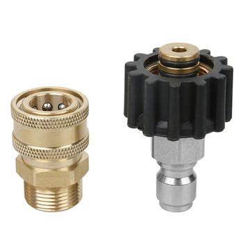 цена на Male Female Fitting Sprayer Tube Adapter Set Pressure Washer Quick Release Connect to Wand Coupling High Pressure Washer