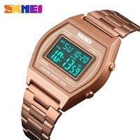 SKMEI hombres reloj Digital de lujo cronómetro hombre reloj de moda reloj de 12/24 horas al aire libre relojes erkek kol saati 1328