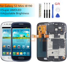 Super AMOLED for samsung galaxy s3 mini lcd Display Touch Screen Digitizer assembly GT i8190 i8195 i8200 screen repair Parts