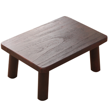 Japanese style wood burning window table living room solid wood coffee table window table bed square small coffee table