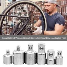 Adapter Ratchet-Socket-Converter Socket-Wrench Car-Repair-Tools Chrome Vanadium 6pcs