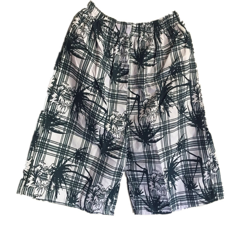 MEN'S Beach Pants Loose Casual Short Sports Quick-Dry Household Booth Goods Beach Pants Floral-Print