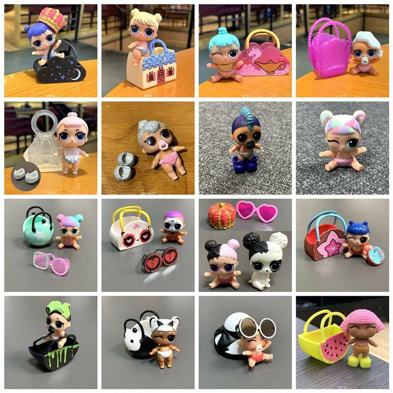 Куклы LOL LiL, сестры, Lil Kitty Queen/единорог/панк бои мальчик с сумкой, обувь, аксессуары, игрушки для детей, рождественские подарки