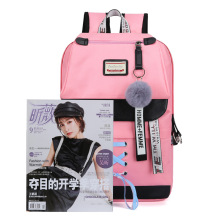 A new backpack for students, usb charging backpacks, Korean version, Korean version couples, large capacity backpacks