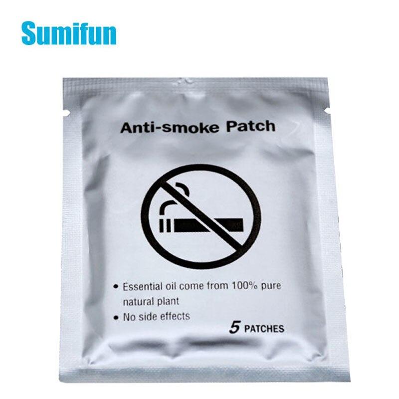 5pcs 100% Natural Ingredient Anti Smoke Patch Stop Quit Smoking Cessation Chinese Herbal Medical Plaster Health Care C1644