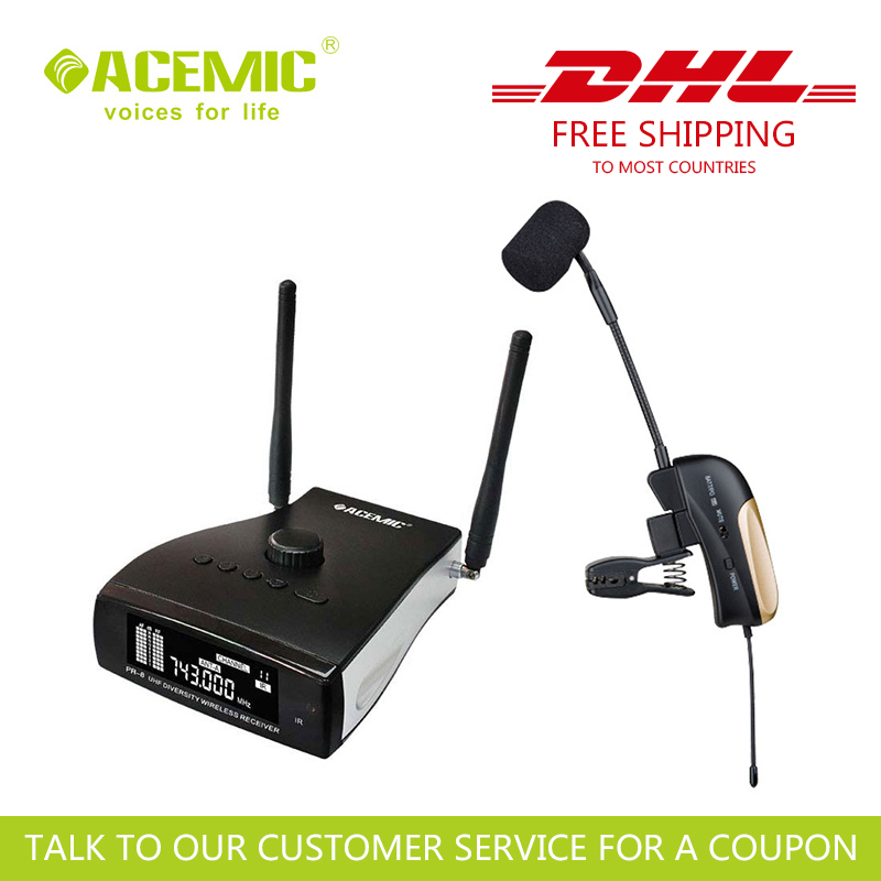 DHL FREE SHIPPING ACEMIC PR-8/ST-4 Wireless Saxophone Microphone And All Wind Instruments