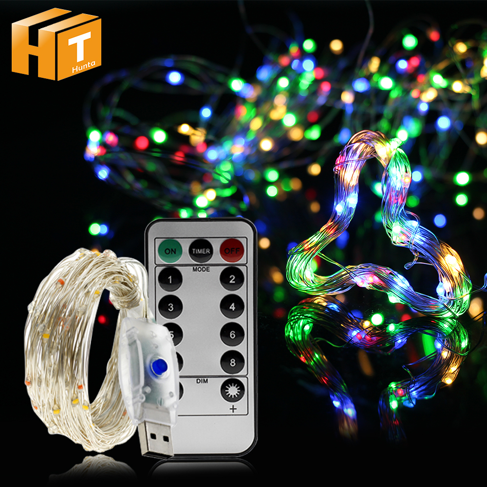 USB LED String Light Fairy Colorful Blue White Pink For Garland Home Christmas Wedding Party Decoration 50/100LEDs 5M 10M