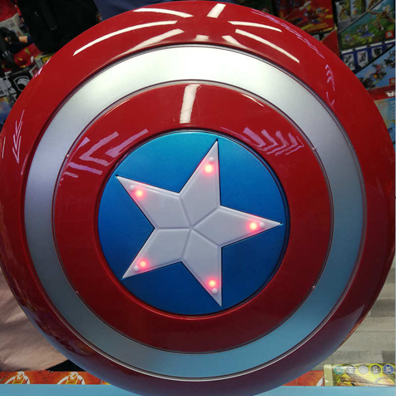 Disney Marvel 30 CM The Avengers 4 Captain America Shield Kids Cosplay Toys Sound And Glow Effects Collectible Model Toy For Boy