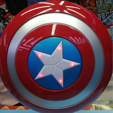 Disney Marvel 30 CM The Avengers 4 Captain America Shield Kids Cosplay Toys Sound and