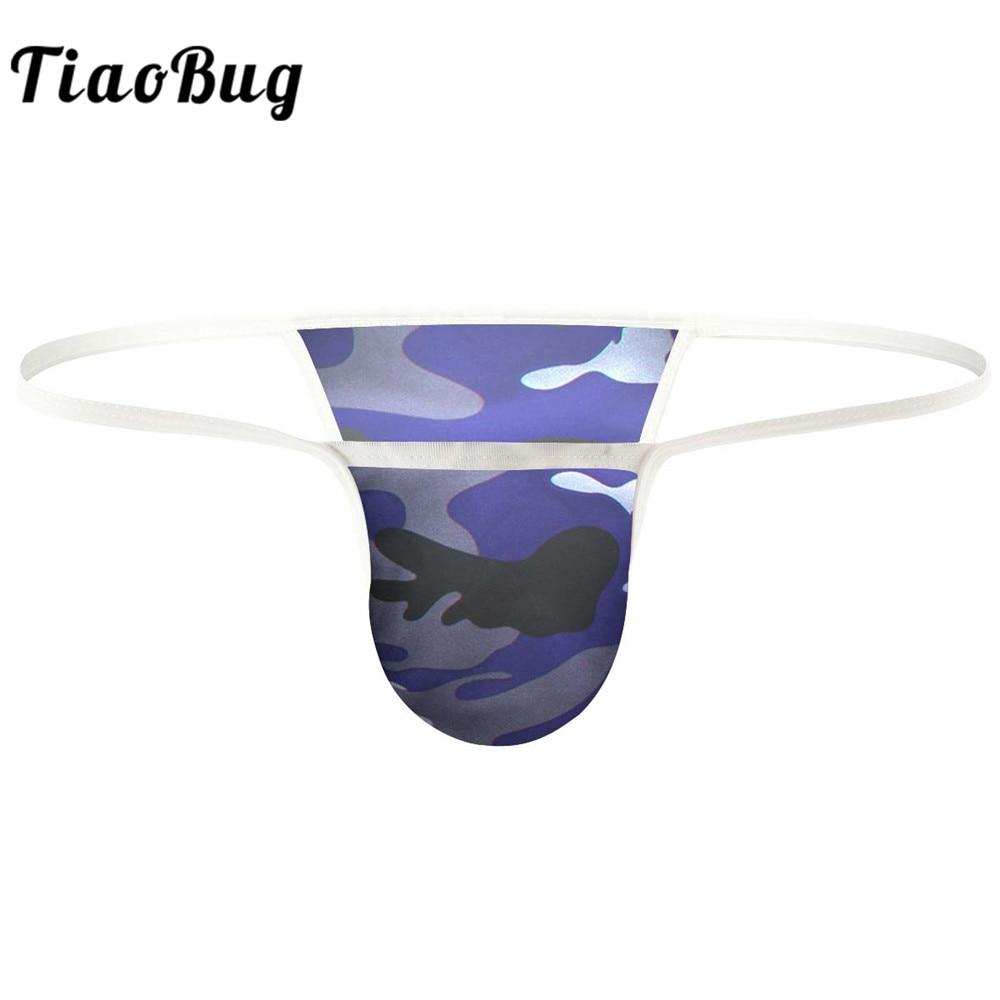 Alvivi Mens Silky Satin Bikini Briefs Sissy Pouch Panties T-Back G-Strings Thongs Underwear