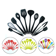 10pcs Silicone Cooking Utensils Sets Heat Resistant Kitchenware Baking Kitchen Tools Set Accessories