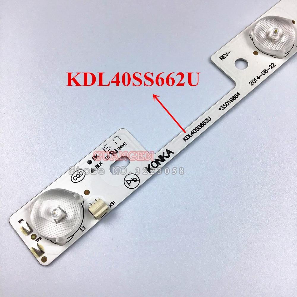 TV LED Bars For Toshiba 40L5400 40L2400 DL3944(A)F DL4045i Backlight Strips Kit 4 LED Lamps Lens 6 Bands KDL40SS662U 35019864