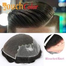 Toupet Swiss Lace Front pour hommes, système de remplacement de cheveux, Extension de prothèse masculine, naissance des cheveux naturelle