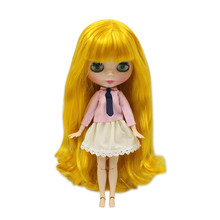 ICY factory blyth doll toy long yellow mango hair wavy joint doll with bangs 280BL3038 on sale special offer sailor moon(China)