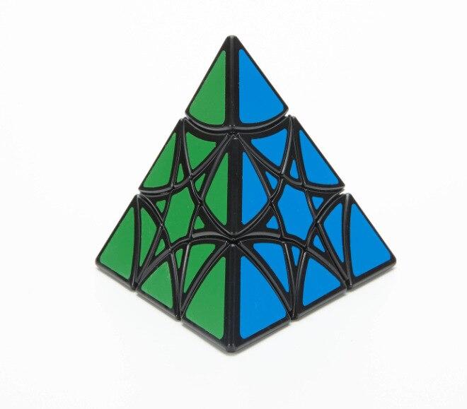 Lanlan estrela piramina curvy hexagrama preto cubo magico brinquedo educativo transporte da gota